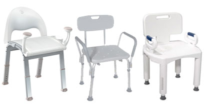 Bathroom Safety Benches with Handles