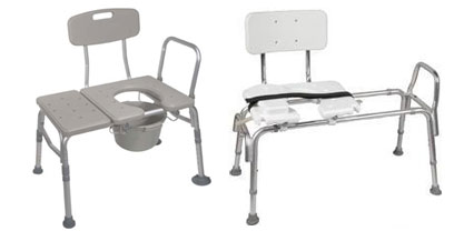 Bathroom Transfer Benches with Commode
