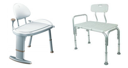 Bathroom Transfer Benches with Handles